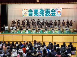 音楽発表会(年長さんの器楽合奏)